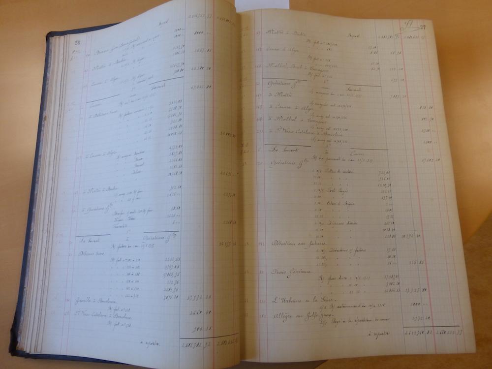 Déjà en 1919 des opérations comptables internationales
