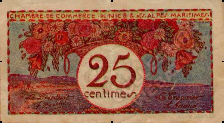 Billet 25 cents