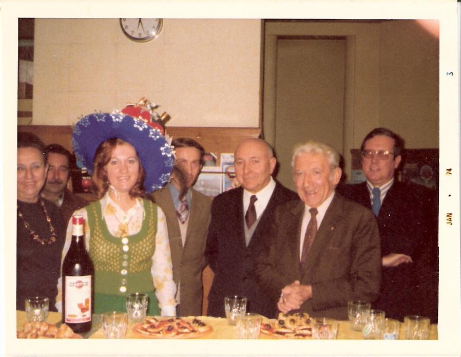 Catherinette à l'agence Thiers en 1973