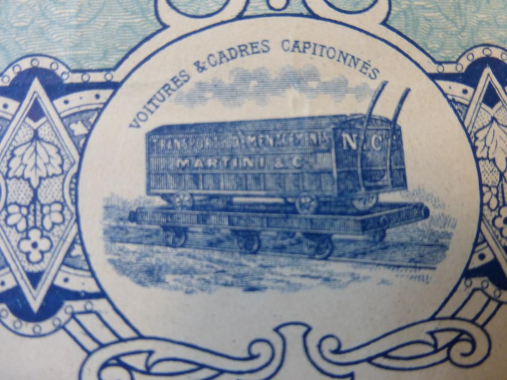 Illustration utilisation cadre sur plateau de train