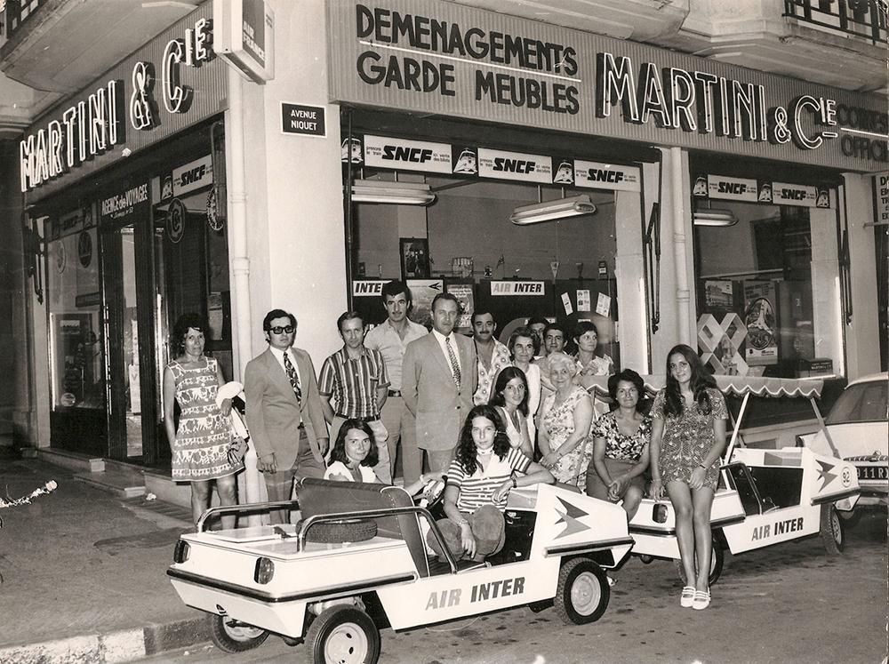L'équipe d'Antibes autour des années 1970-75