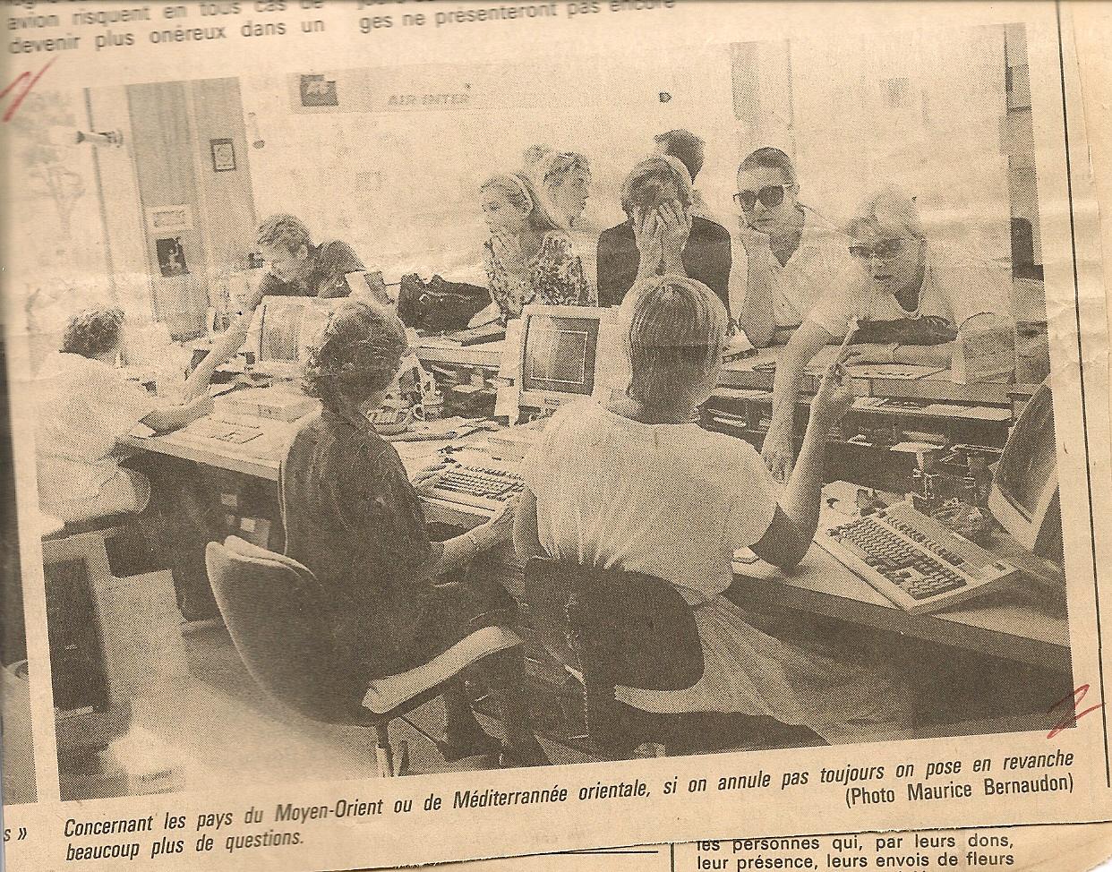 L'agence d'Antibes au quotidien des années 70-80