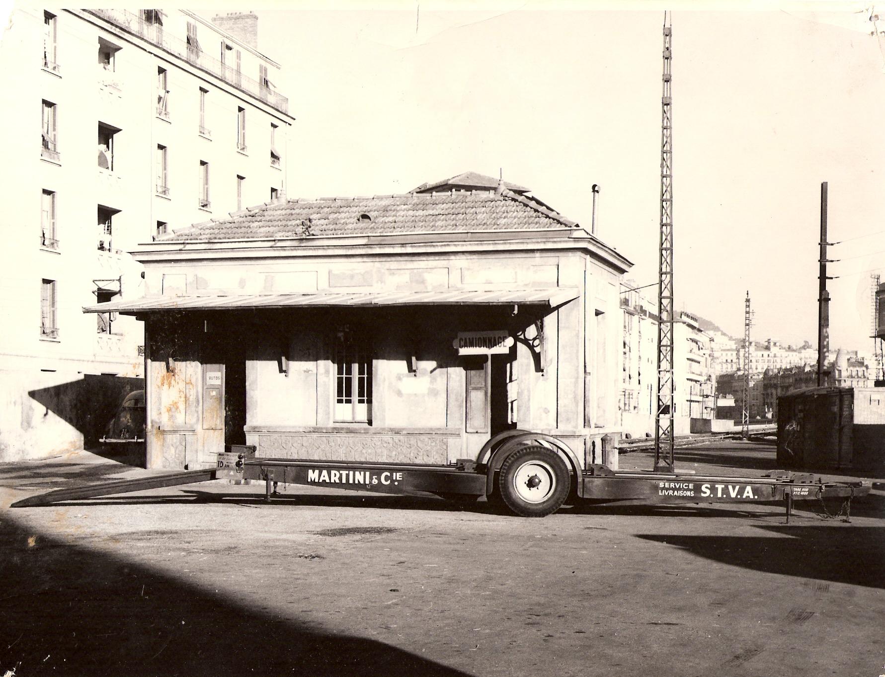 Les bureaux du factage-camionnage gare de Nice Thiers (côté Rue Reine Jeanne)